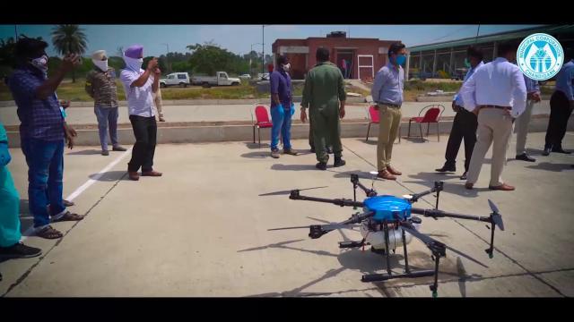 Sanitization of Apni Mandi and Sector 39 through Drone