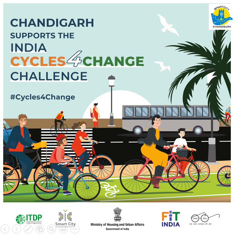 Chandigarh supports the india CYCLES4CHANGE challenge